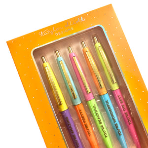 Complementary Colored Ink Pen Set