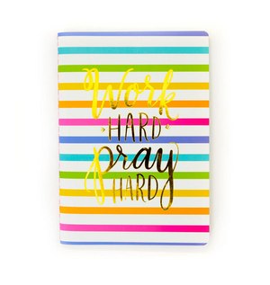 Motivational Notebook Prayer Journal - Work Hard Pray Hard