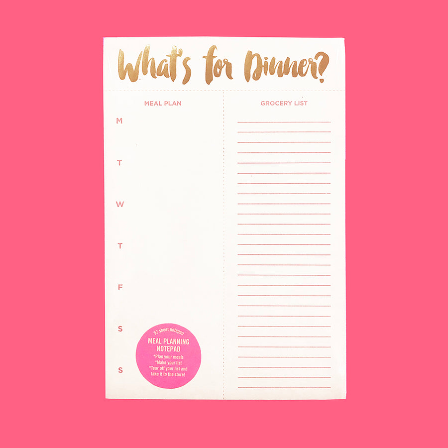 What's For Dinner - Meal Planner Notepad