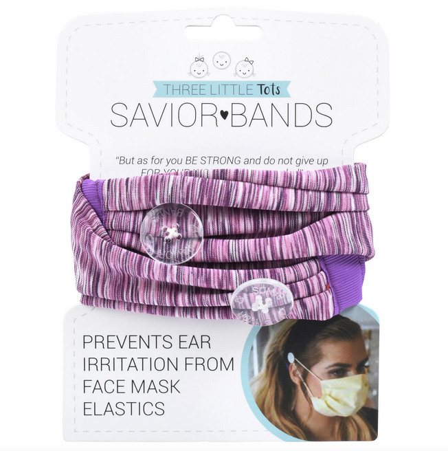 Savior Bands - Headbands with Mask Buttons
