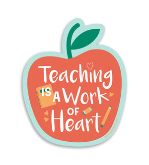 Teacher Vinyl Sticker - Teaching Is A Work Of Art