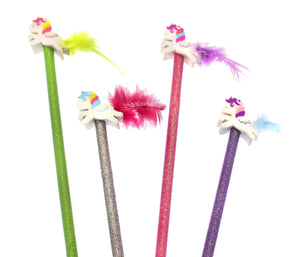 Unicorn pencils and eraser - Kids Art Supplies - School Supplies