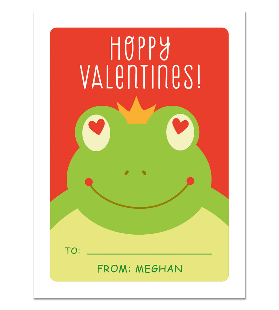 Personalized Valentine Cards - School class valentines