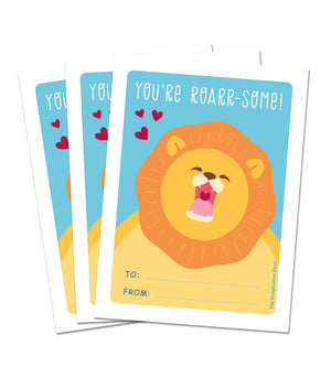 Valentine Card Set - Roarrsome - Personalized Valentine Cards