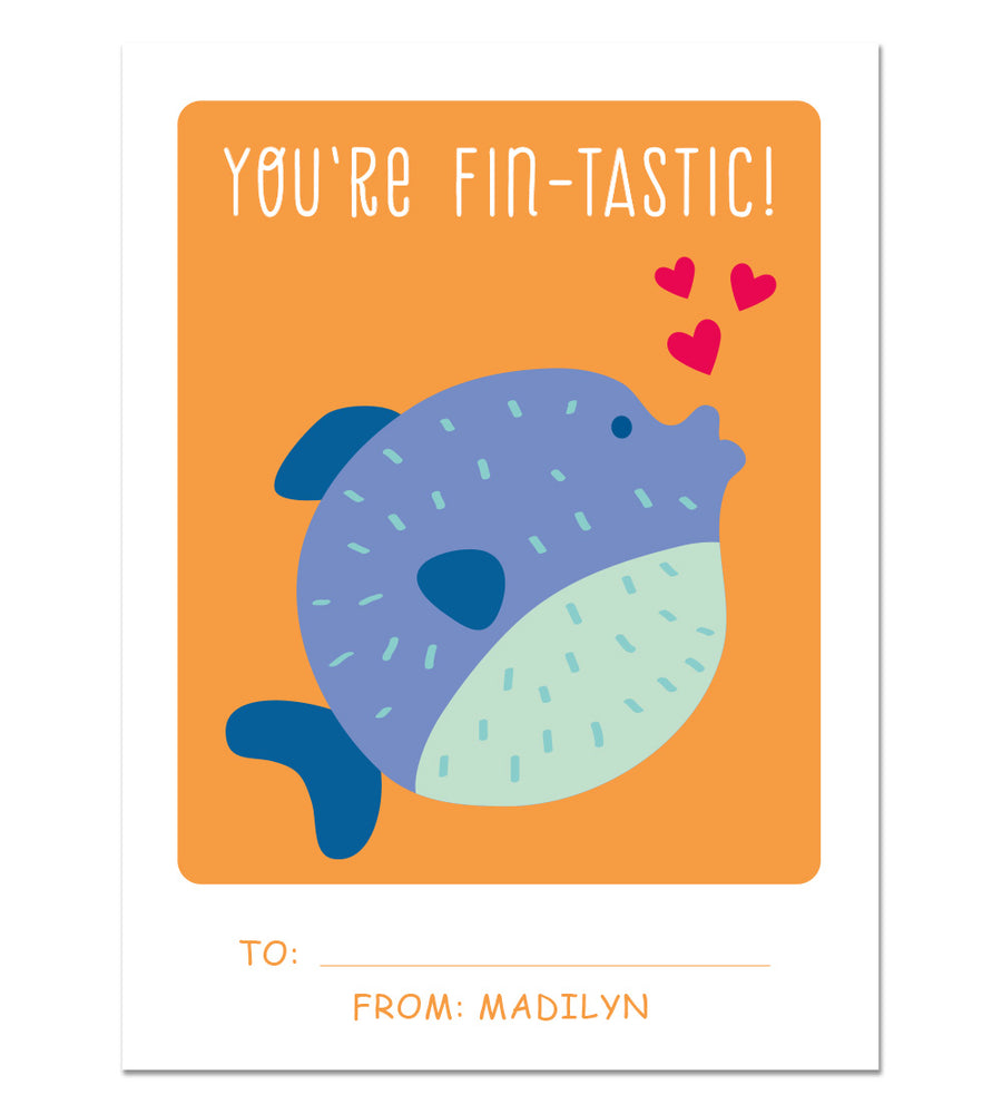 Valentine Card Set - Fintastic - Personalized Valentine Cards