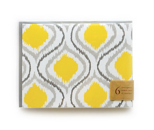 Letterpress Notecard Set - Ikat