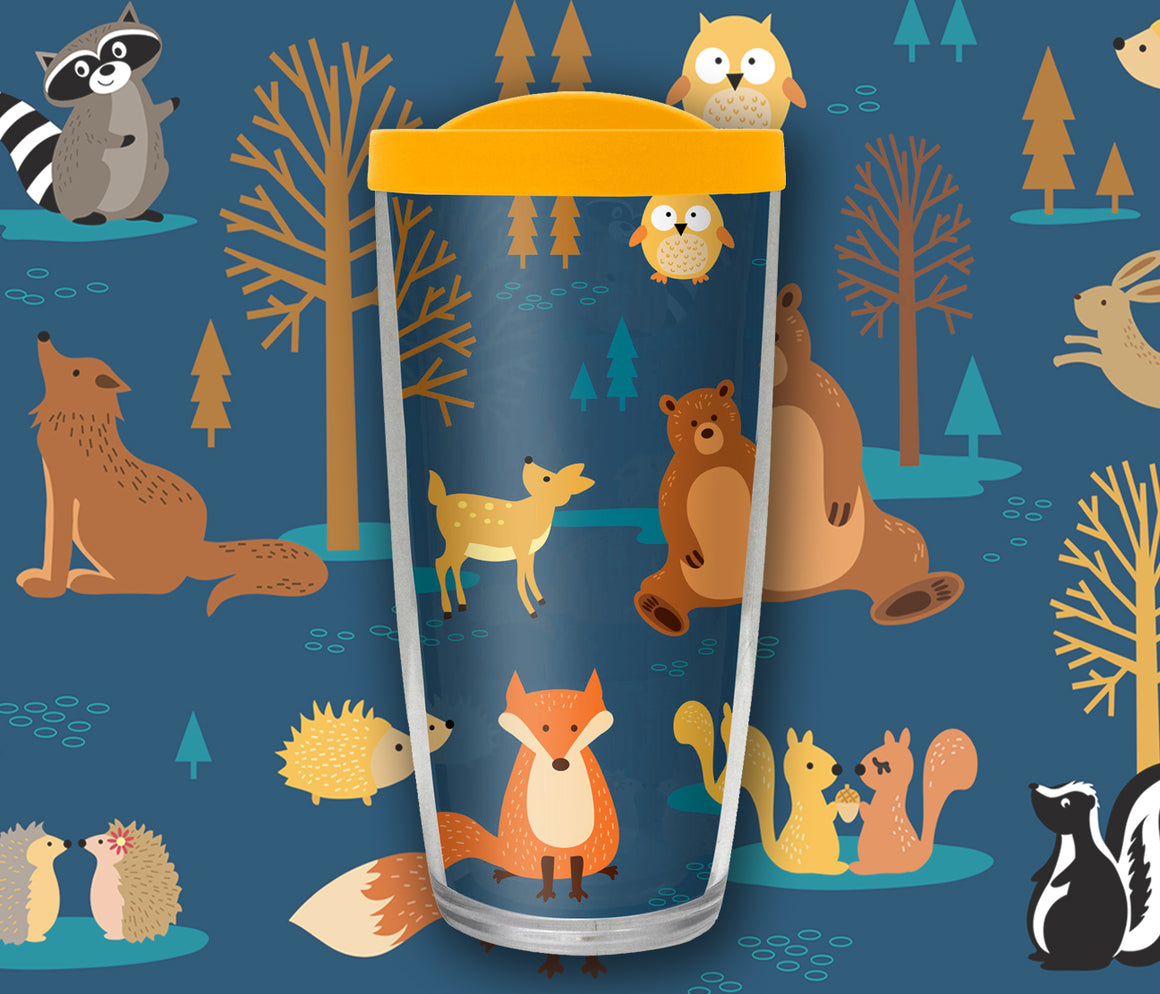 Woodland Animals Travel Mug - Drinkware