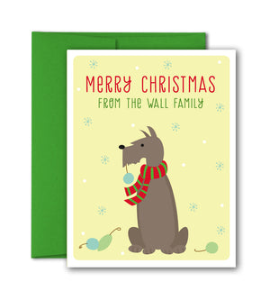 Custom Holiday Cards Set- Custom Pet Card - The Imagination Spot