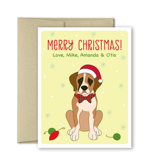 Personalized Christmas Cards - Custom Pet Card - The Imagination Spot
