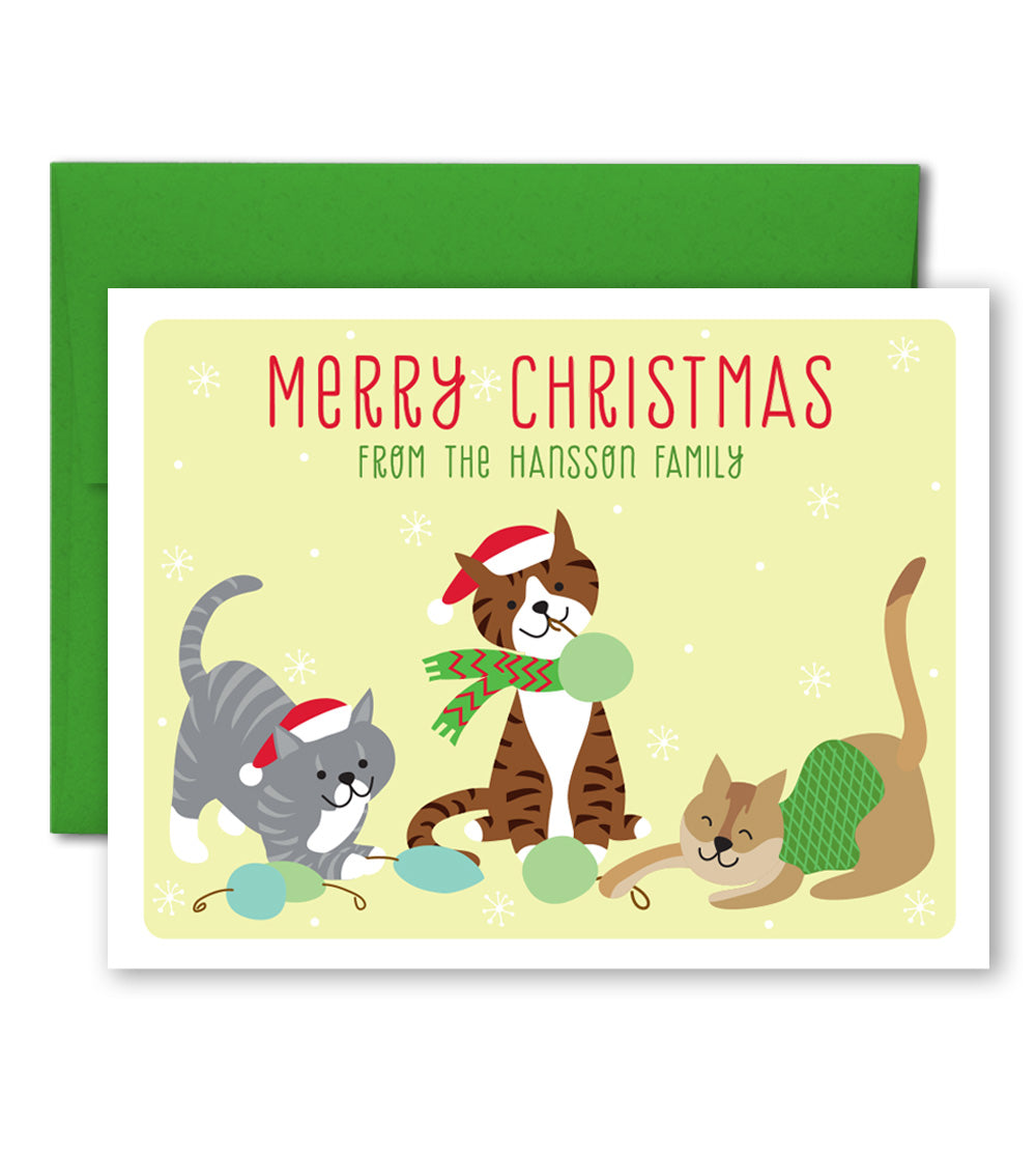 Personalized Holiday Cards - Custom Pets Illustration - The Imagination Spot