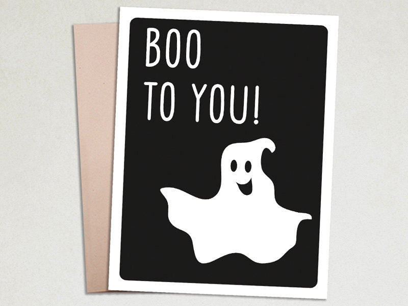 Halloween Card - Boo To You - The Imagination Spot