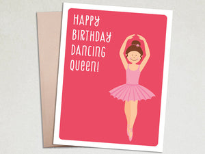 Birthday Greeting - Dancing Queen - Birthday Card for Girls - The Imagination Spot