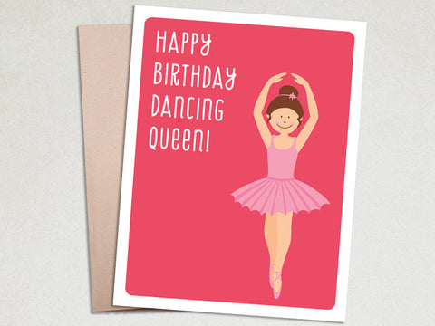Birthday Greeting - Dancing Queen - Birthday Card for Girls