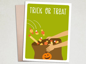 Halloween Card - Trick or Treat - The Imagination Spot - 1