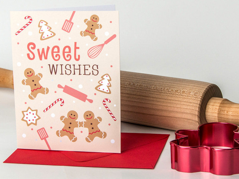 Cute Christmas Card - Holiday Baking - The Imagination Spot