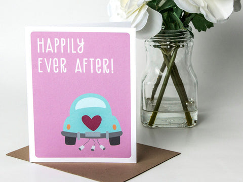 Wedding Congrats Card - Happily Ever After