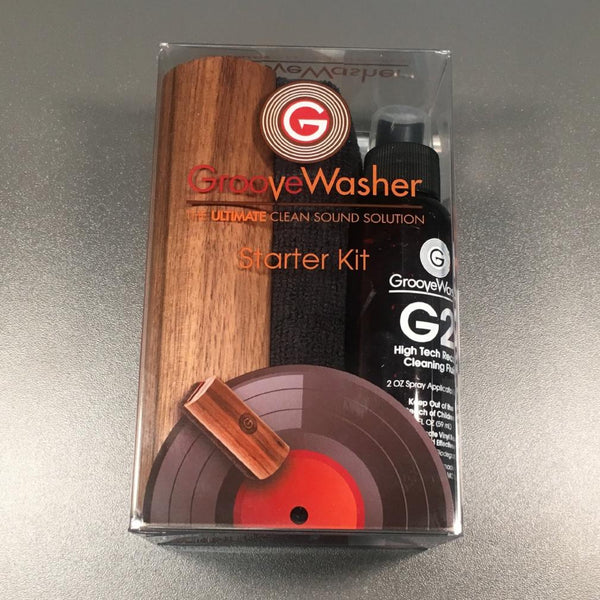 Discogs x GrooveWasher Record Cleaning Kit package