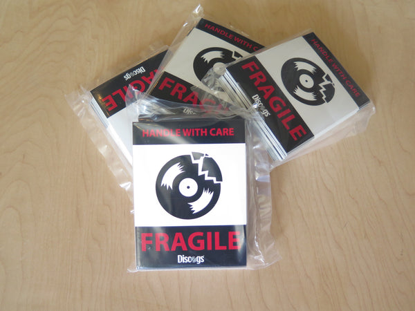 fragile sticker packs available from discogs