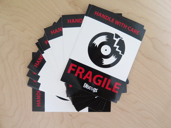 Vinyl Record fragile sticker
