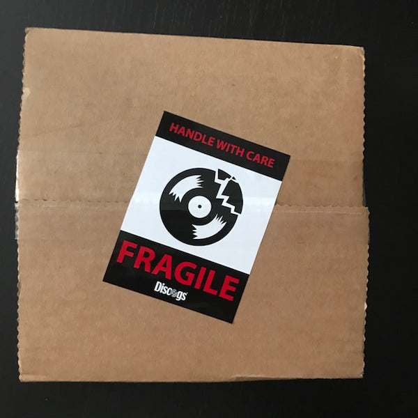 Fragile Sticker on Record Mailer