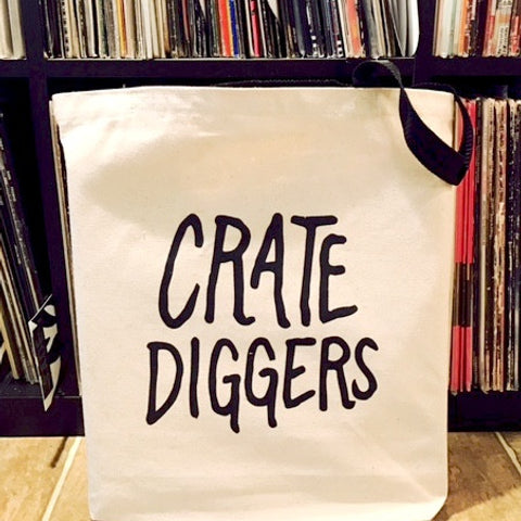 Crate Diggers Canvas Tote Bag