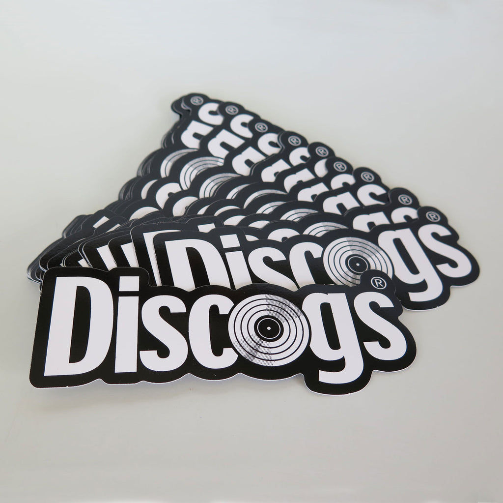 Stack of Discogs stickers