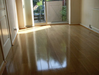 Restored Laminate floor after treatment