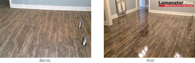 Laminate Floor Cleaned and Restored Using Lamanator Plus