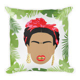 "Killa Kahlo ""Palms"" Throw Pillow"