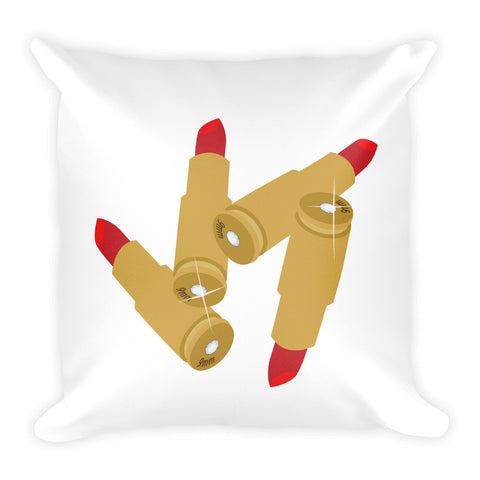 "LipClips ""Rouge Ricochet"" Throw Pillow"
