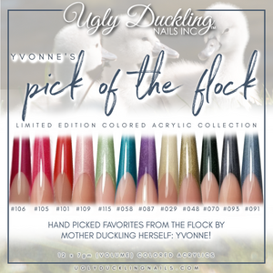 """PICK OF THE FLOCK"" - YVONNE'S COLORED ACRYLIC COLLECTION"