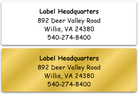 Personalized Return Address Labels, Custom Return Address Labels