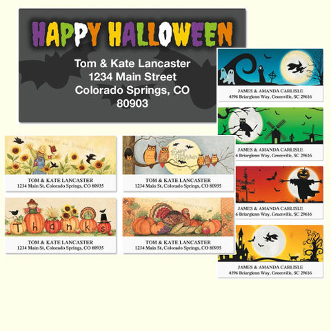 Fall & Halloween Labels