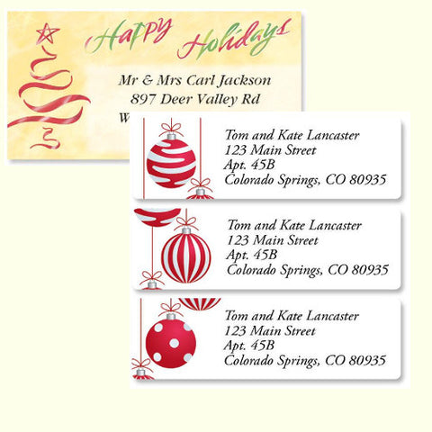 Christmas & Winter Holiday Labels