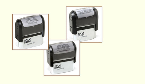 Customized Monogrammed Name and Self Inking Address Stamps