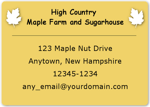 B843 Maple Label
