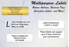 Traditional Sheet Labels