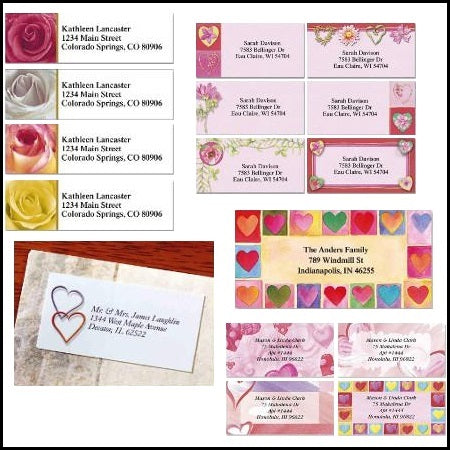 Love/Valentine Labels