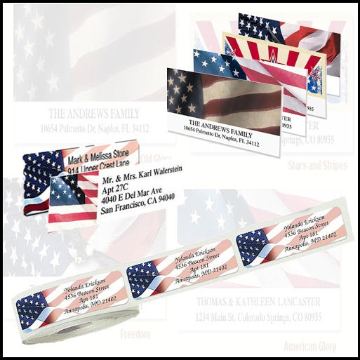 Patriotic and Flag Labels