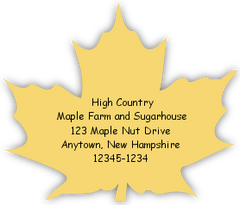 Cut to Shape Maple Leaf Label