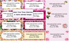 Love Themed Border Labels on Sheets