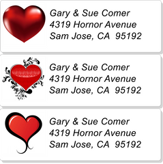 Small Love/Valentine Address Labels on Sheets
