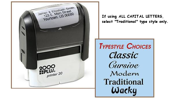 Mini Three Line Address Stamp (Self Inking)