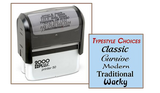 Jumbo Seven Line Address Stamp (Self Inking)