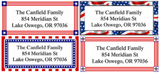 Americana Border Address Labels on Sheets