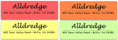 "Accent Line Address Label Sheets  (approximately 1 7/8"" x 5/8"")"