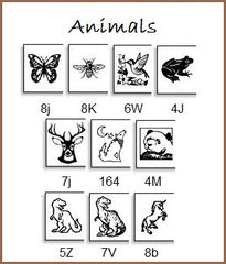 Personalize your labels with animal icons . . . butterfly, bear, unicorn.