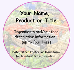 "Home Canning Labels - 2"" Top of Jar"