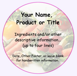 Home Canning Labels