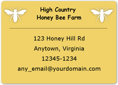 "Honey-Maple Sheet Labels - 1.75"" x 1.25"""